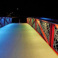 Interaktive Brückenbeleuchtung über die Hunte in Diepholz